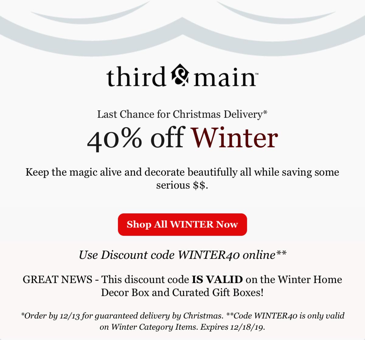 Third & Main Winter 2019 Box – Save 40%!