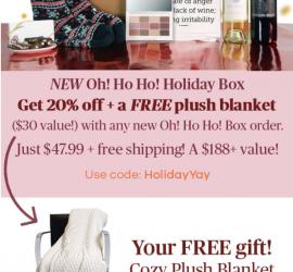 Vine Oh! Box Cyber Monday Sale - 20% Off + Free Blanket!
