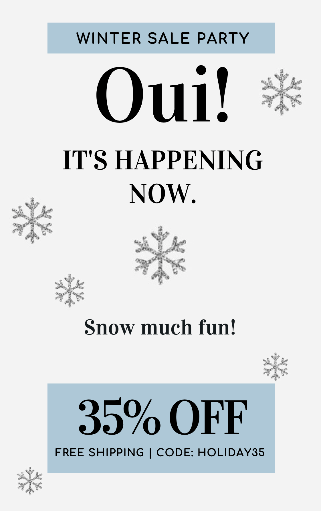 FINAL HOURS: Oui Please Holiday Sale – Save 35% Subscriptions!