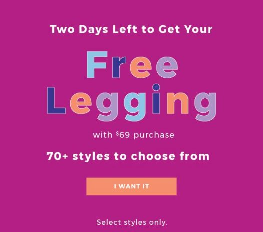 Fabletics Free Leggings with Purchase!