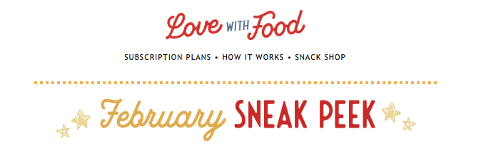 Love With Food February 2020 Spoilers