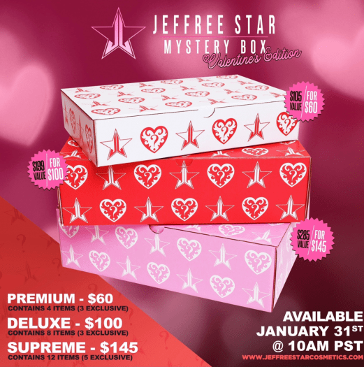 Jeffree Star Valentine's Mystery Boxes - Launching TODAY