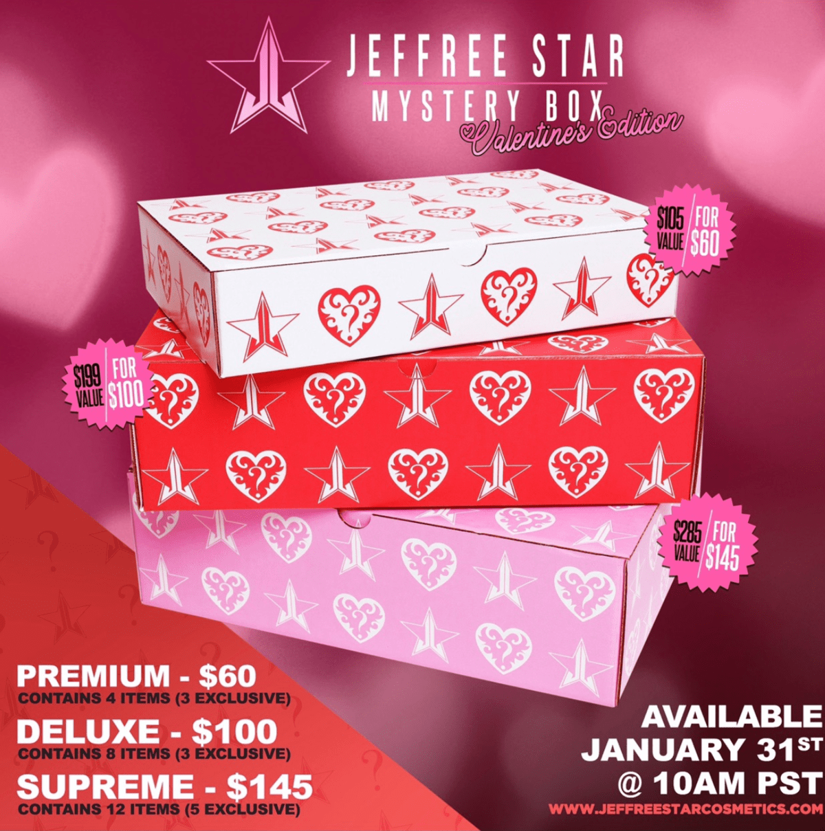 Jeffree Star Valentine's Mystery Boxes – On Sale Now