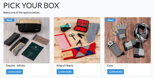 SprezzaBox February 2020 Select Your Box Time!