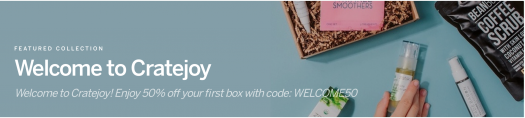 Cratejoy Welcome Sale – Save 50% off Your First Month of Select Boxes