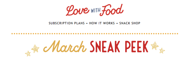 Love With Food March 2020 Spoilers