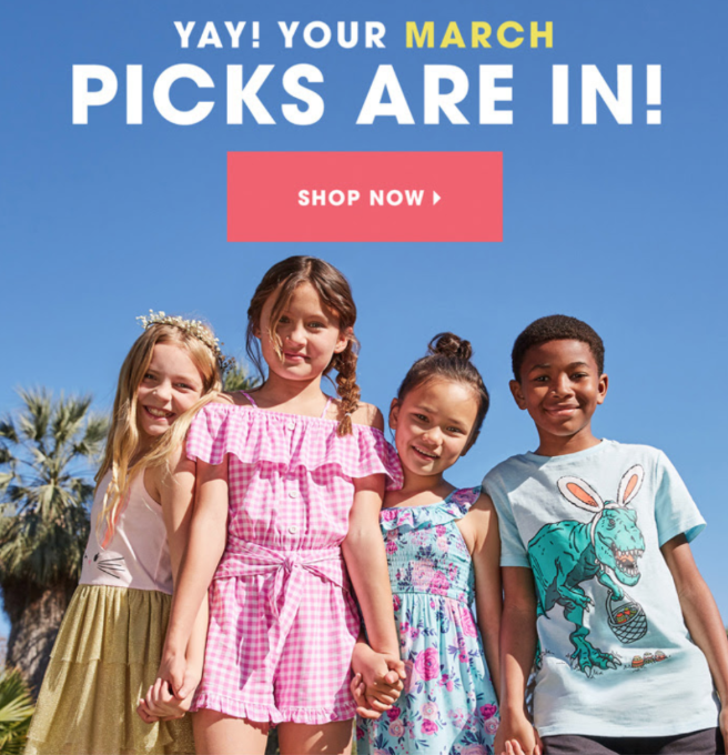 April 2020 FabKids Selection Time + New Subscriber Offer