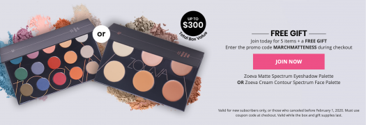BOXYCHARM March 2020 Box - On Sale Now + Free Zoeva Palette