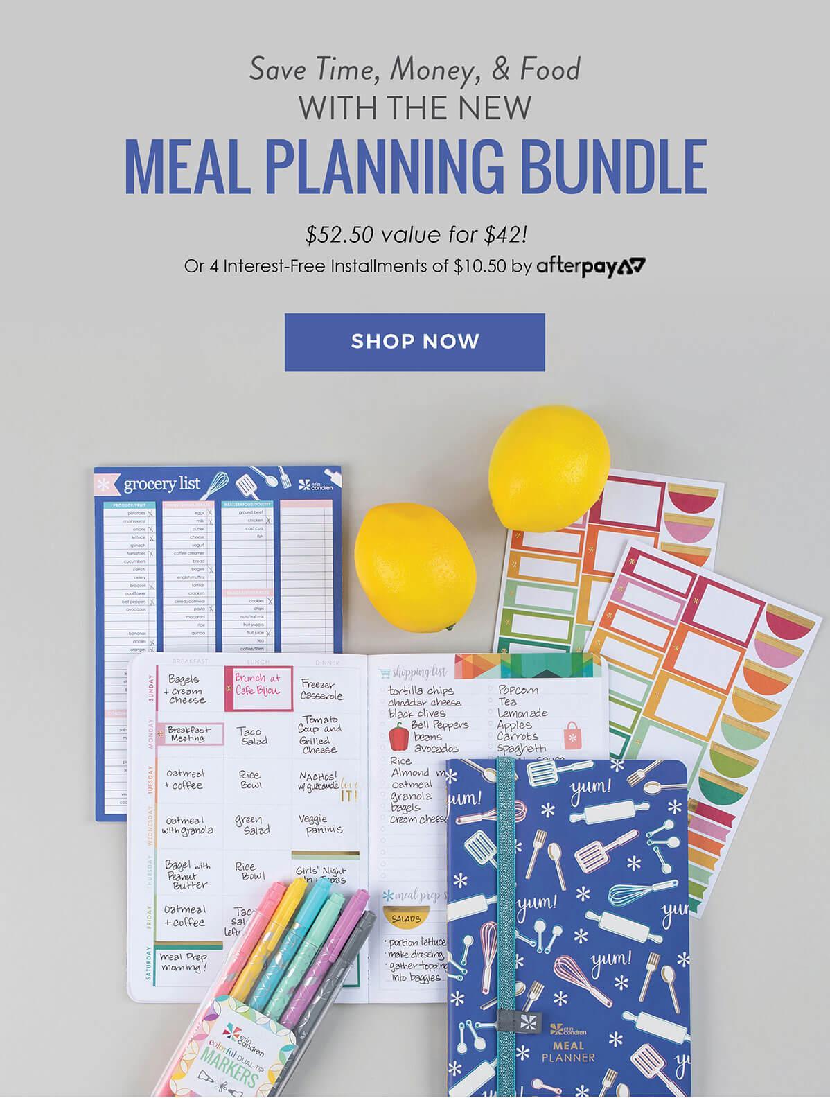 Erin Condren Meal Planner Bundle – On Sale Now!