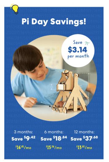 KiwiCo Pi Day Sale – Save $3.14 Per Box!