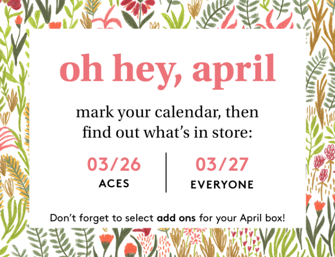 Birchbox April 2020 Sample Choice & Curated Box Selection Time (for ACES)