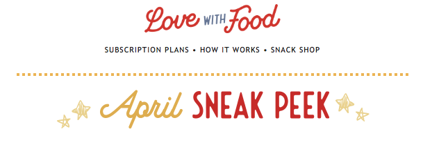 Love With Food April 2020 Spoilers