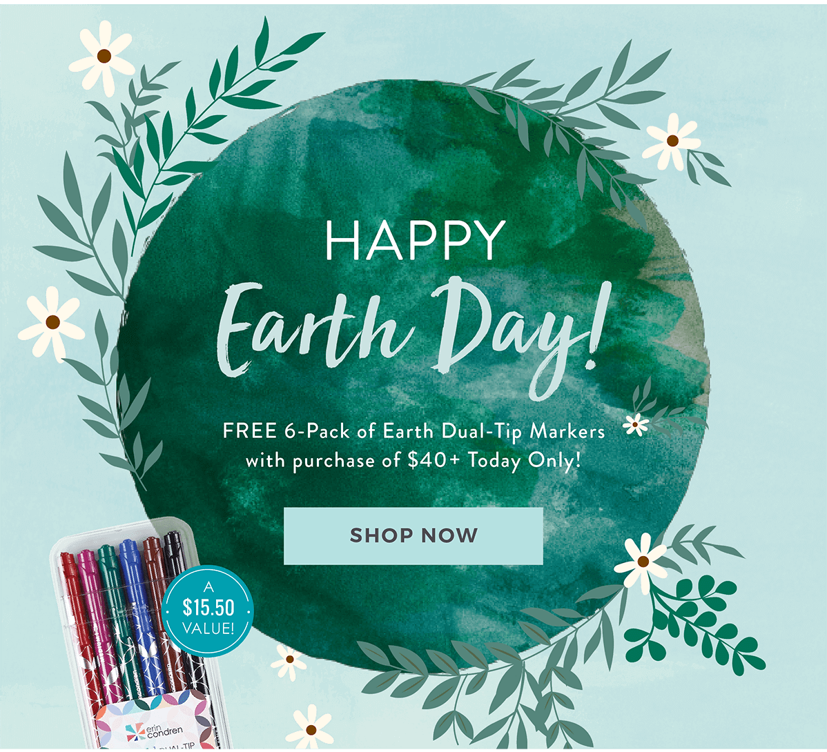 Erin Condren Earth Day Sale – Free Markers