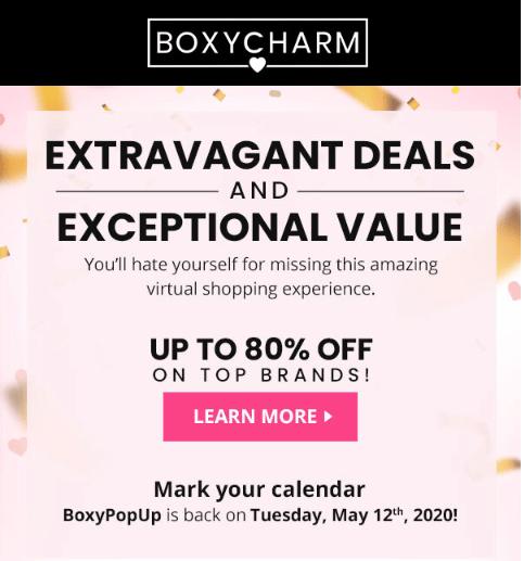BOXYCHARM Pop-Up Shop – Coming 5.12.20 + Sneak Peeks
