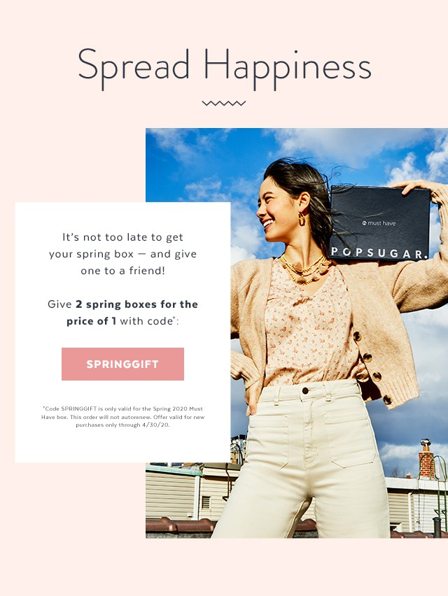 POPSUGAR Must Have Box Spring 2020 – Buy One, Get One FREE