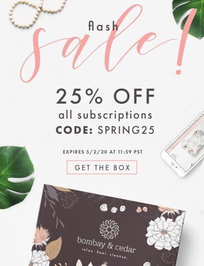 Bombay & Cedar Flash Sale – Save 25% Off!