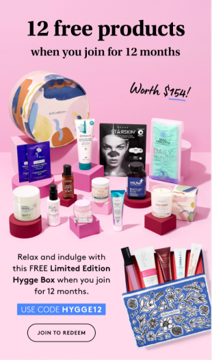 Birchbox Coupon Code – Free Limited Edition: How to Hygge Box with Annual Subscription