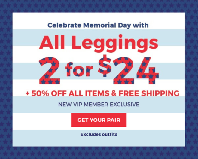 Fabletics Memorial Day Sale – 50% off Everything + 2 for $24 Leggings