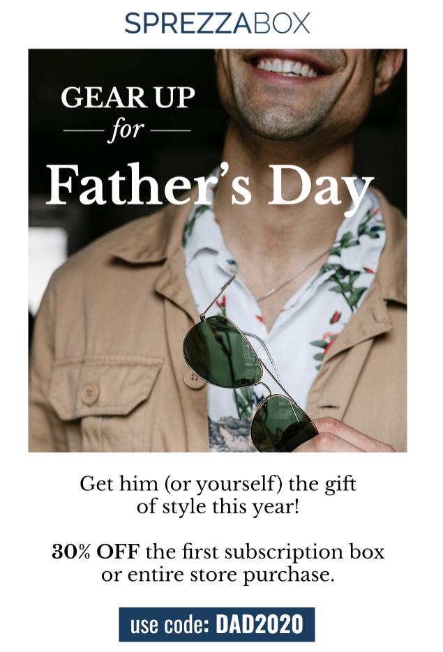 SprezzaBox Father's Day Sale – Save 30%!
