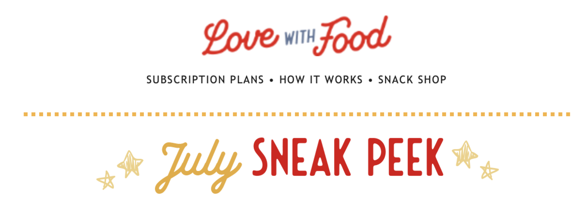 Love With Food July 2020 Spoilers