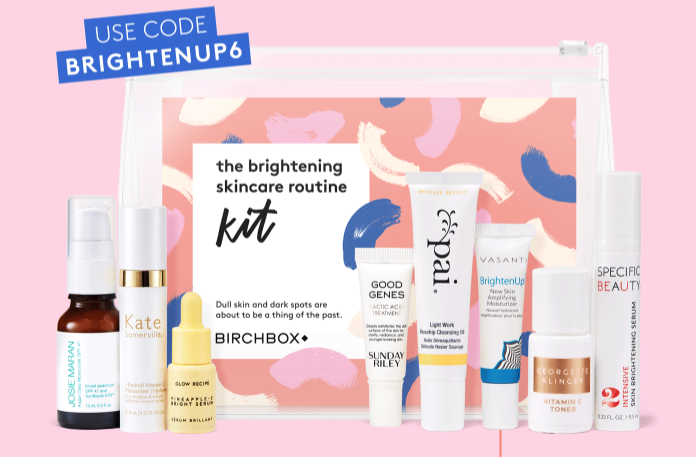 Birchbox Coupon Code – Free The Brightening Skincare Routine Kit with 6-Month Subscription