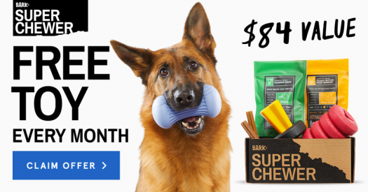 BarkBox Super Chewer Coupon Code – Free Extra Toy Per Month