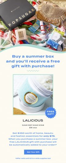 LAST CALL: POPSUGAR Must Have Box Summer 2020 Box – Free Gift with Purchase