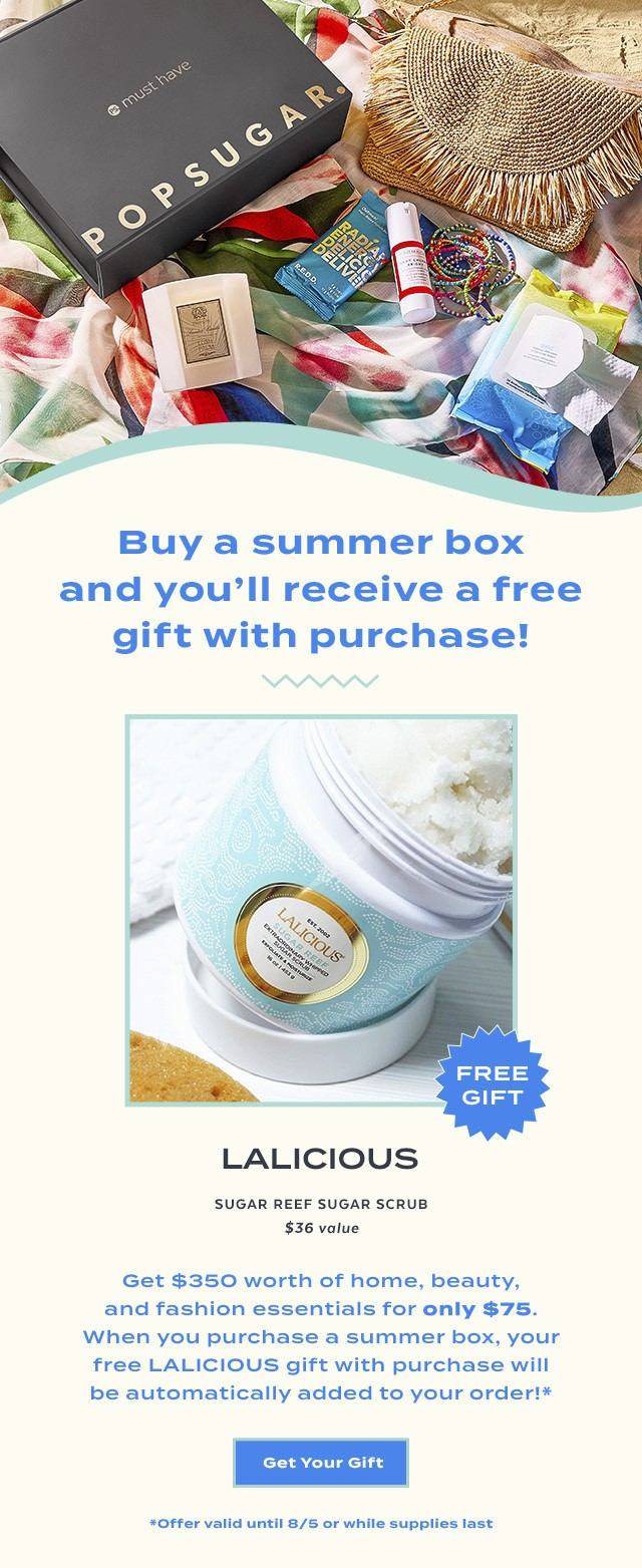 POPSUGAR Must Have Box Summer 2020 Box – Free Gift with Purchase