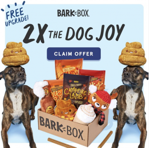 BarkBox Coupon Code – Double Your First Box Free!