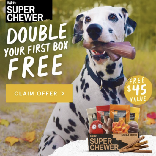 BarkBox Super Chewer Coupon Code – Double Your First Box!