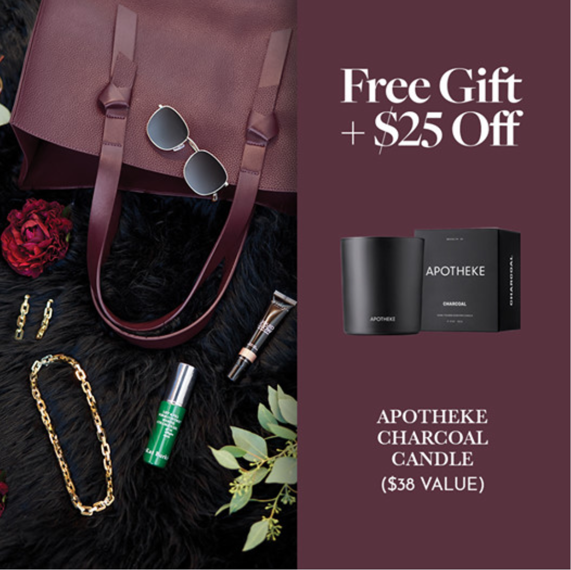 CURATEUR Fall 2020 Coupon Code – Save $25 + FREE Apotheke Charcoal Candle