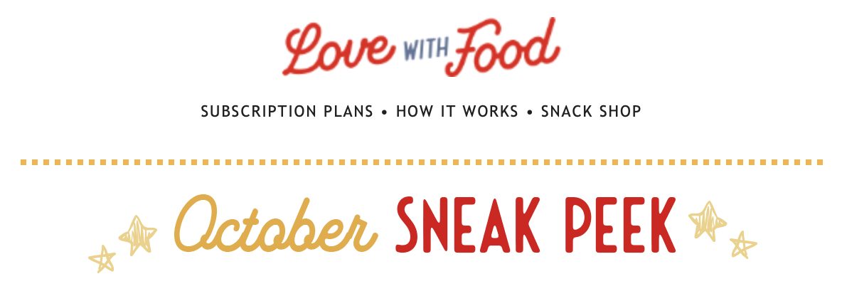 Love With Food October 2020 Spoilers