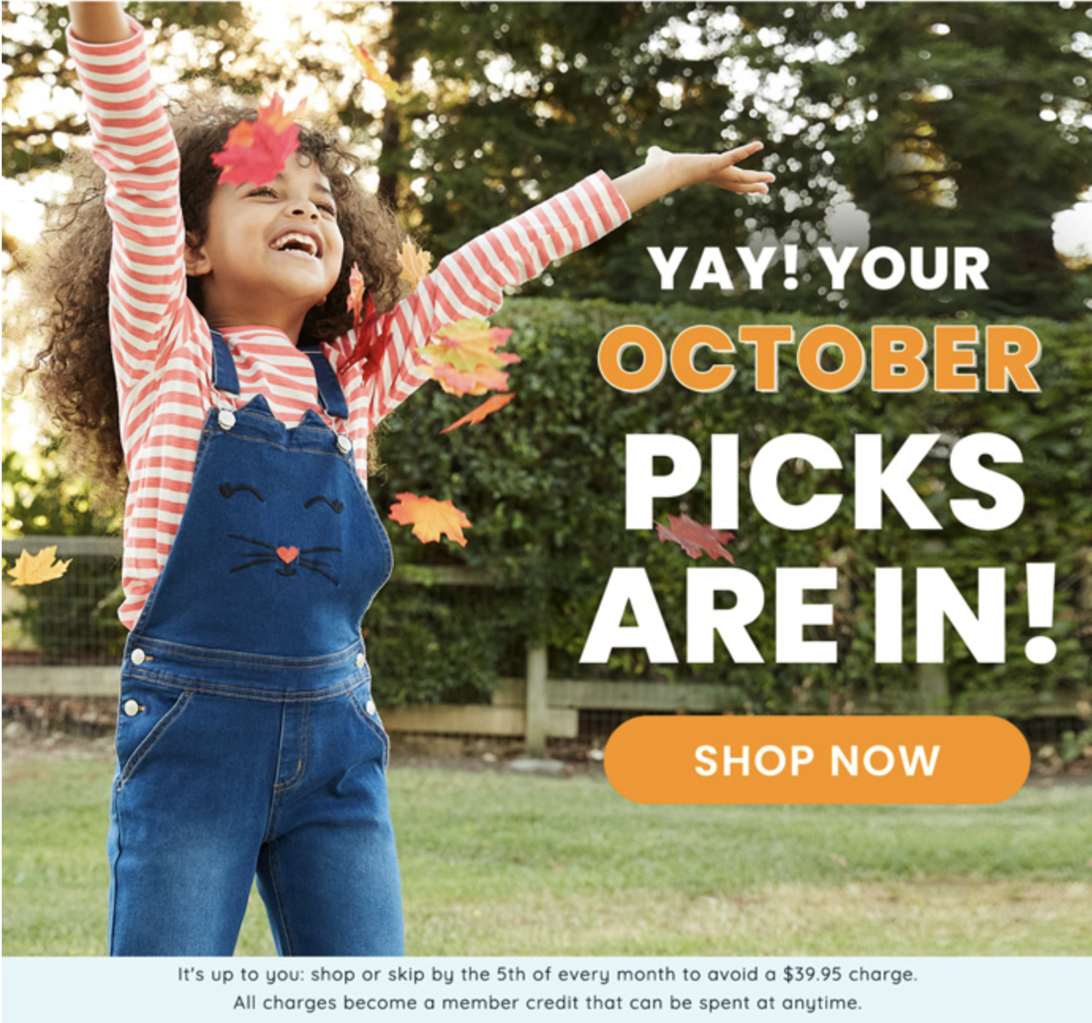 October 2020 FabKids Selection Time + New Subscriber Offer