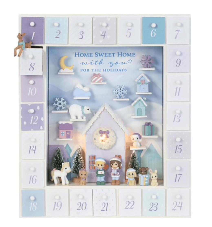 Precious Moments Winter Moments LED Advent Calendar