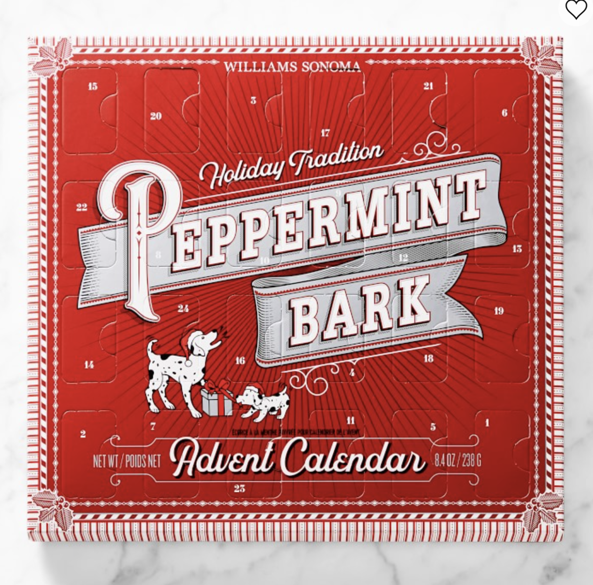 Williams Sonoma Peppermint Bark Advent Calendar – On Sale Now