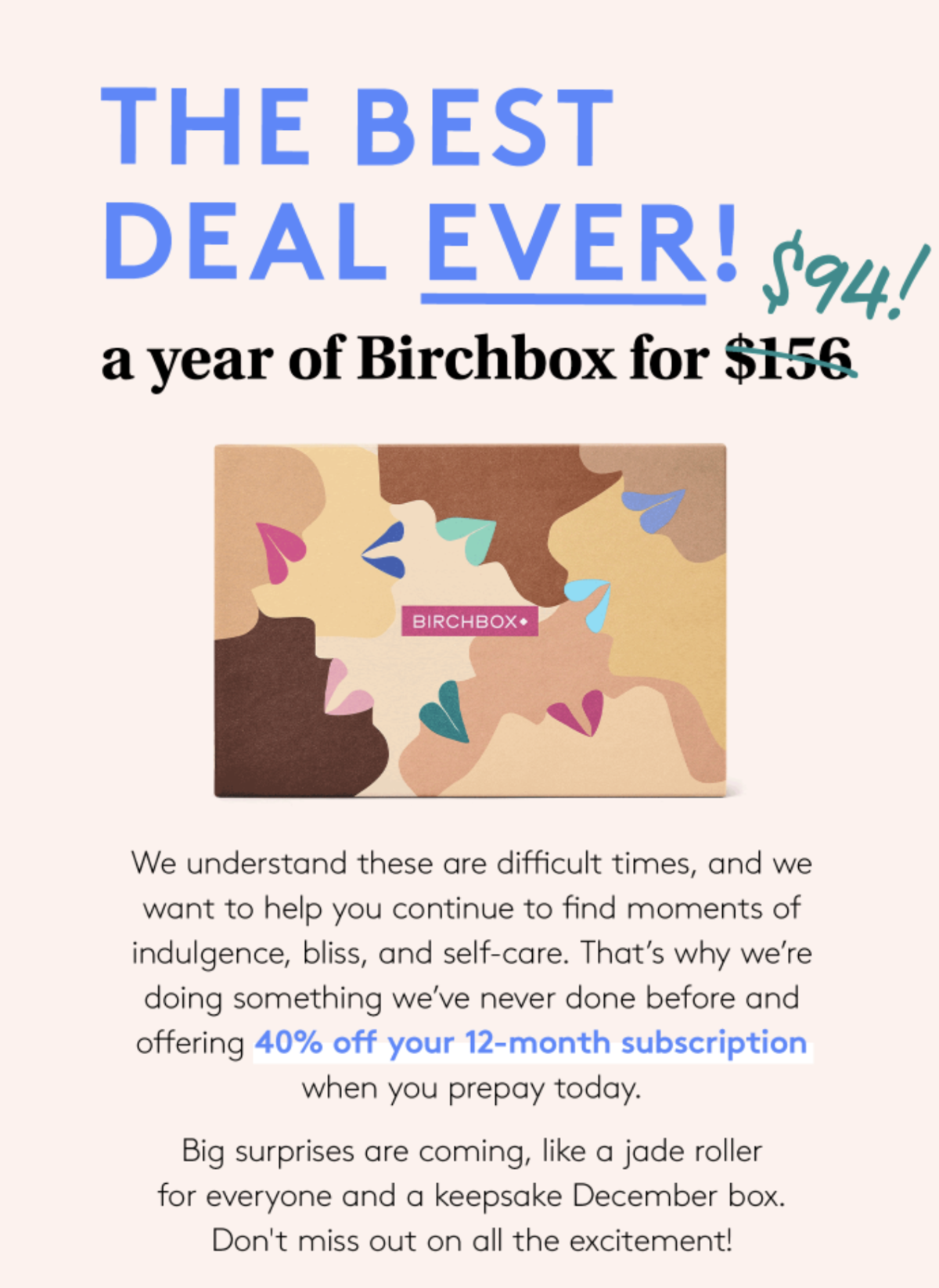 Birchbox Annual Subscription Offer – Save 40%!