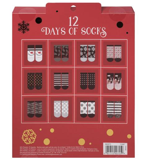 Party City 12 Days of Socks Advent Calendar – On Sale Now