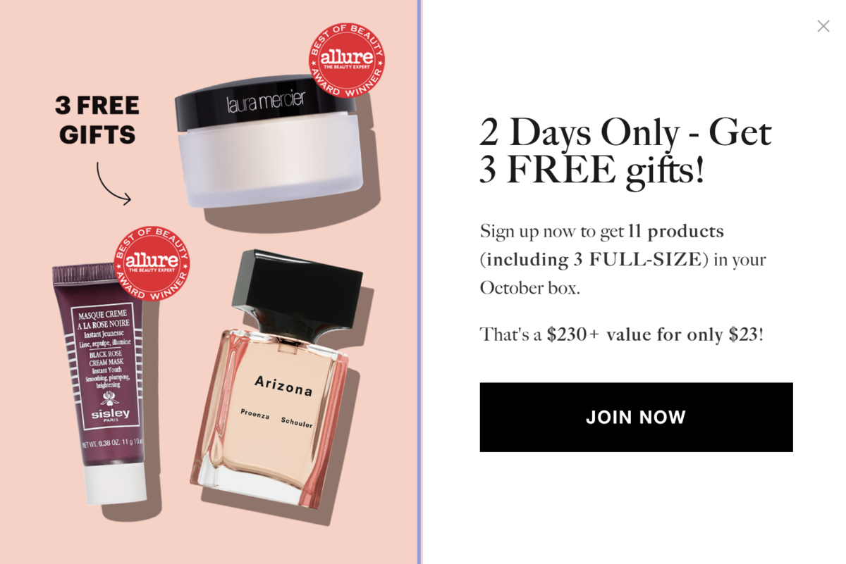 Allure Beauty Box – Free Gifts with New Subscription!