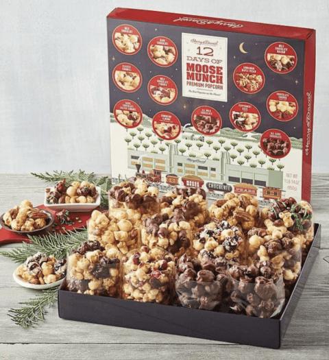 Harry & David 12 Days of Moose Munch® Premium Popcorn Advent Calendar