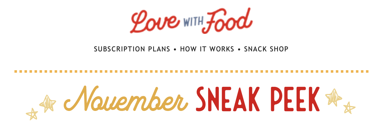 Love With Food November 2020 Spoilers