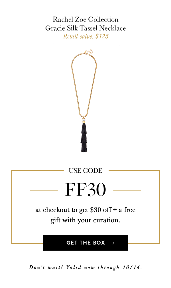 CURATEUR Prime Day Coupon Code – Save $30 + FREE Rachel Zoe Necklace