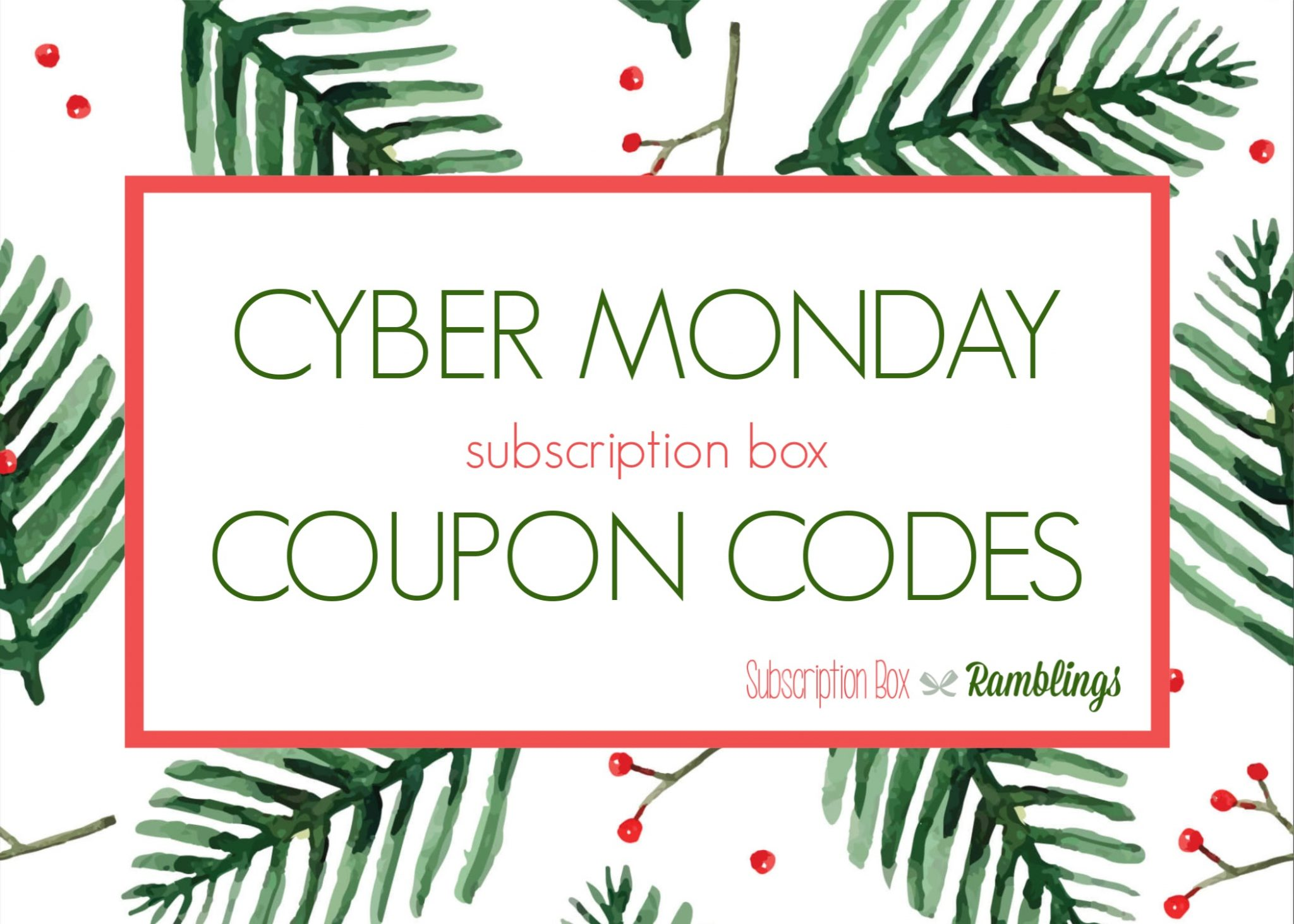 Cyber Monday Subscription Box Coupon Codes & Deals!