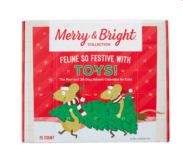 PetSmart Merry & Bright Holiday 25-Day Advent Calendar for Cats