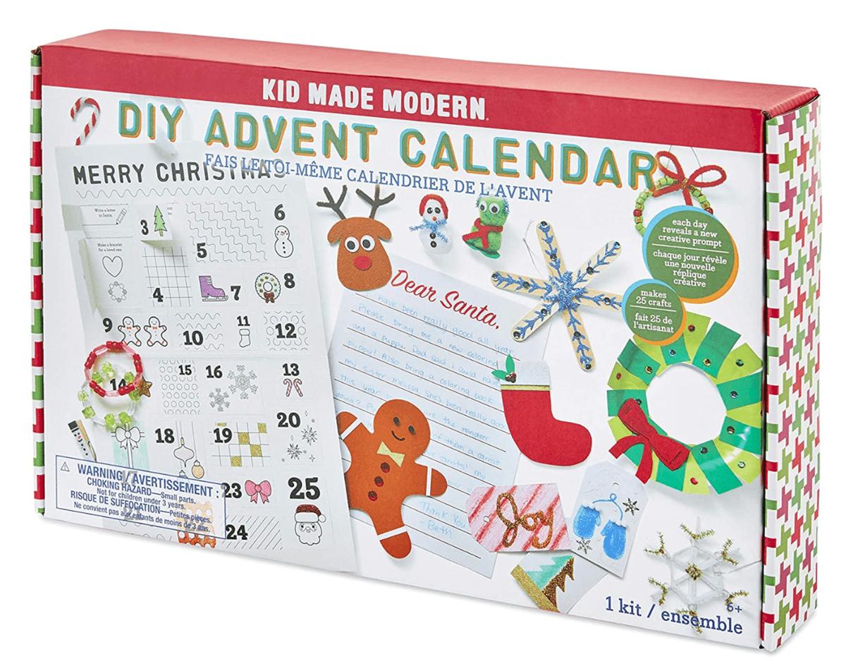 Kid Made Modern Holiday Crafts DIY Advent Calendar