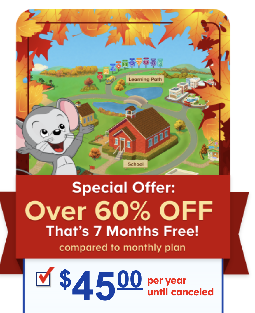 ABC Mouse – Save 60% off for Black Friday!