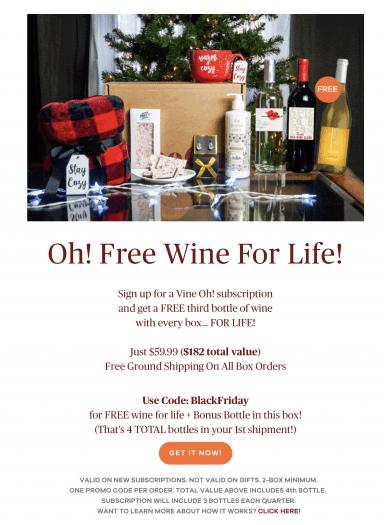 Vine Oh! Black Friday Sale!