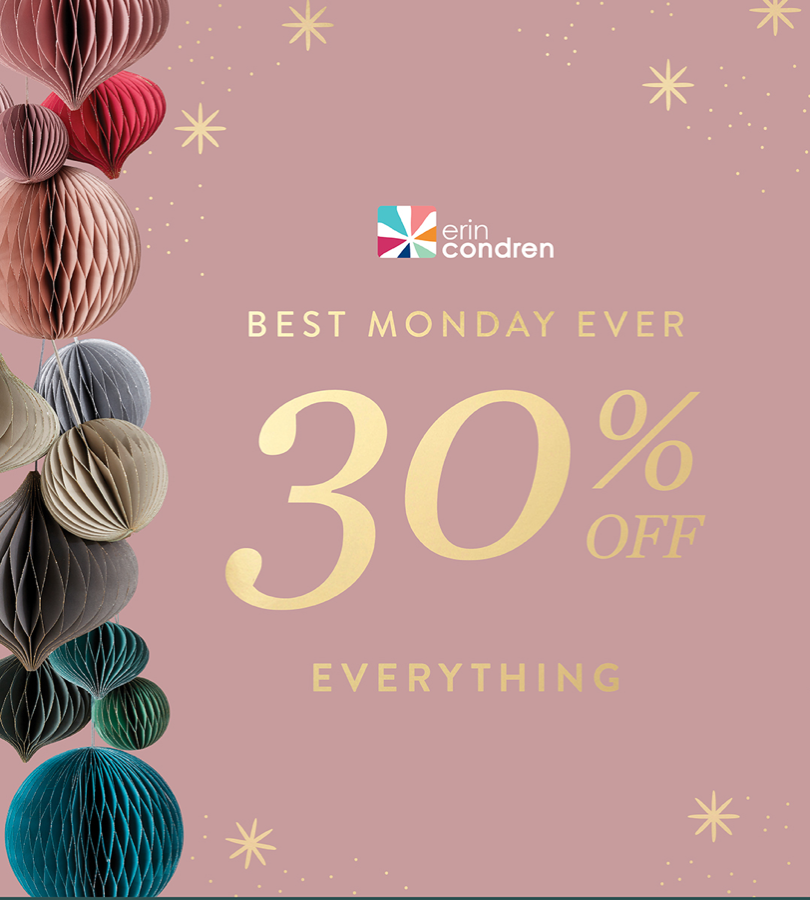 LAST CALL! Erin Condren Cyber Monday Sale – Save 30% Off EVERYTHING + Free Gift