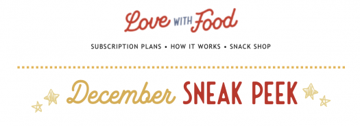 Love With Food December 2020 Spoilers