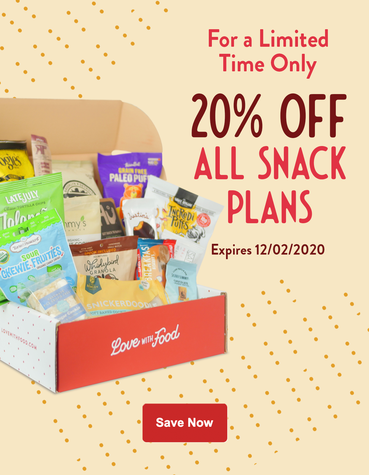Love With Food Sale – Save 20%!