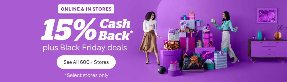 Rakuten – Get up to 15% Cash Back for Black Friday!!!